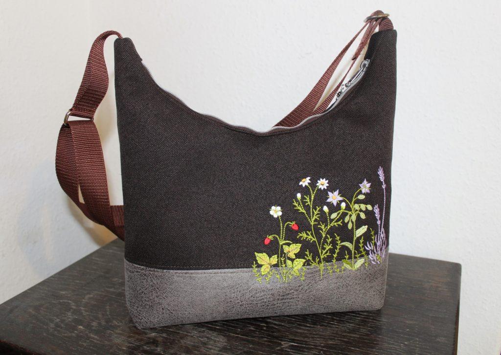 Angies Kleiderschrank Umhängetasche, Tasche, Alles Drin,  Wiesenblumen